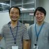 お世話になった福士圭介先生と修士1年の宮下さん